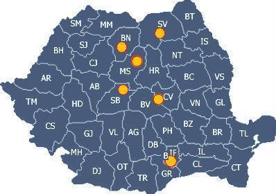 harta distribuitori autorizati usi de semineu in Romania, producator